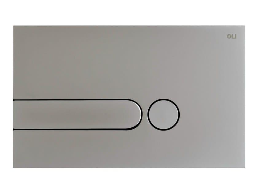 Brushed steel flush plate IPLATE | Brushed steel flush plate - OLI