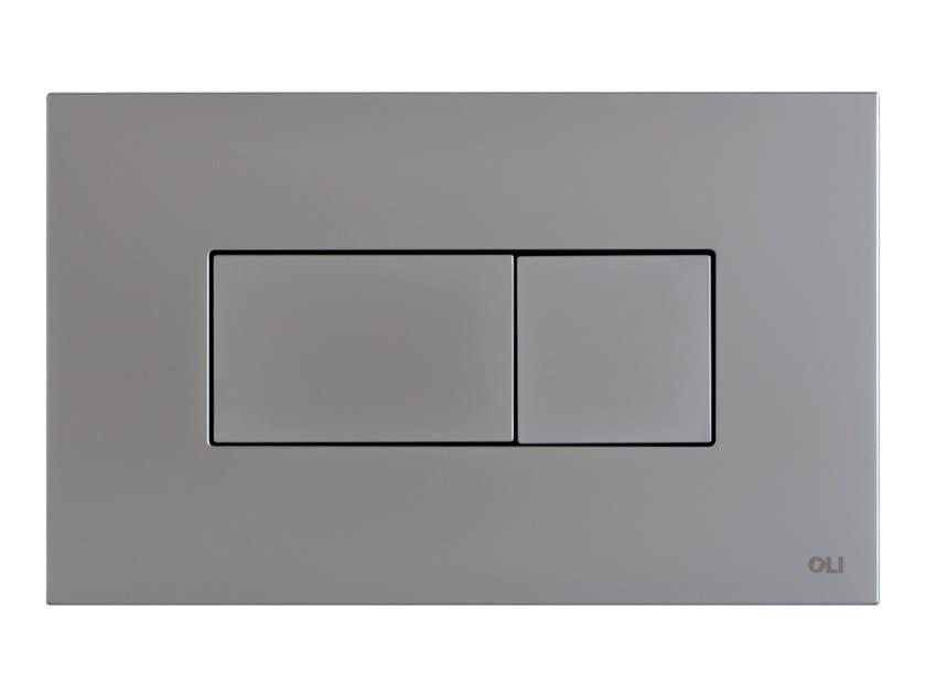 Brushed steel flush plate KARISMA | Brushed steel flush plate - OLI