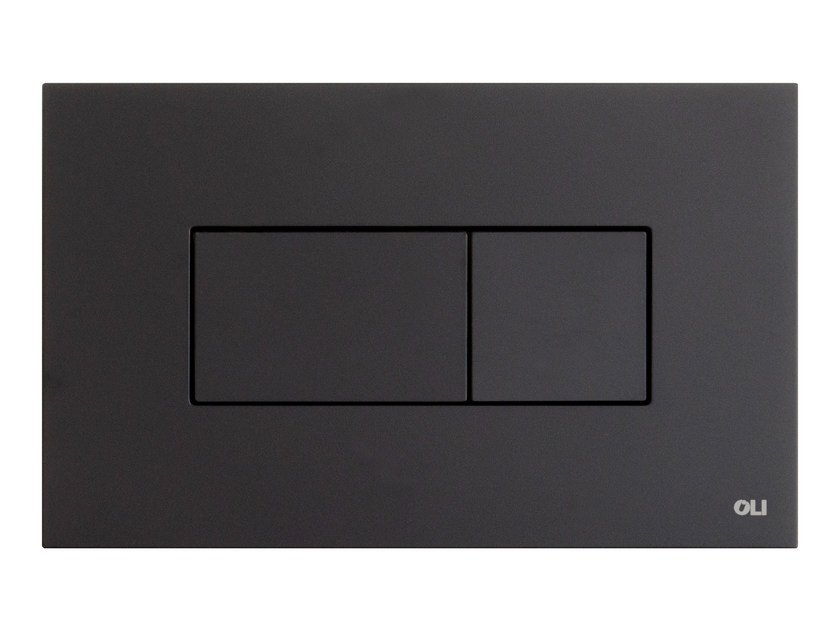 ABS flush plate KARISMA BLACK SOFT TOUCH by OLI