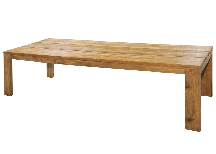 rectangular teak dining table eden dining table 300x100 by mamagreen