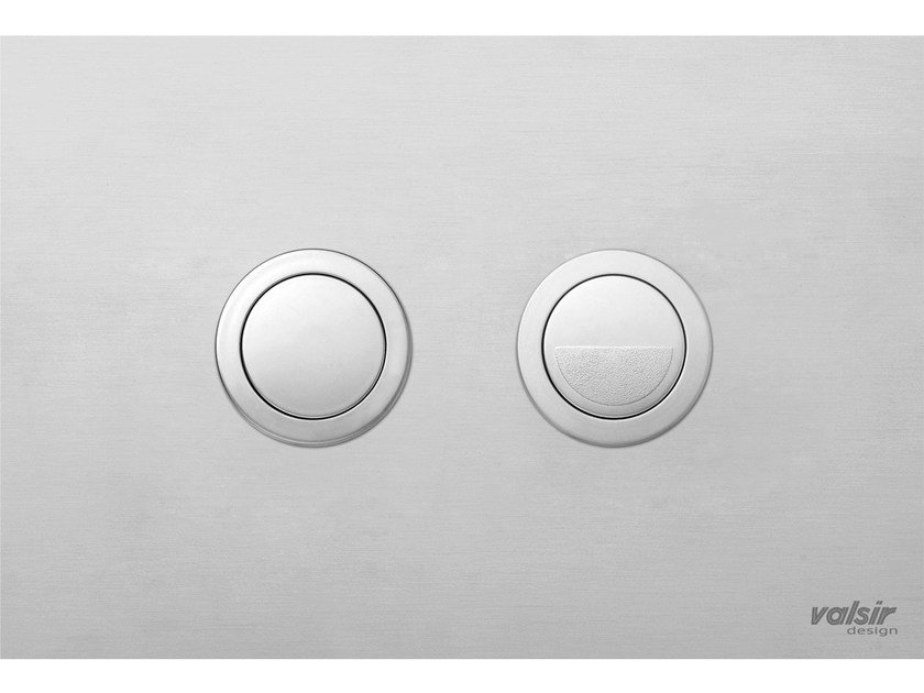 Chrome-plated stainless steel flush plate INOX SATIN CHROME/SATIN - Valsir