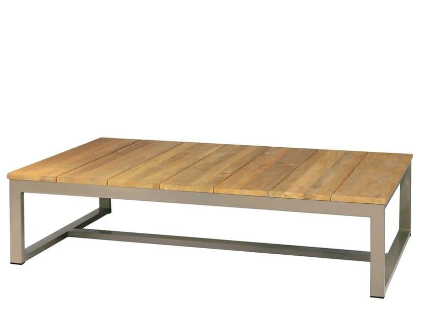Rectangular aluminium and wood coffee table MONO | Aluminium and wood coffee table - MAMAGREEN
