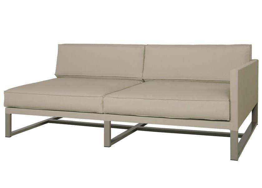 Sled base sectional 2 seater fabric sofa MONO   2 seater sofa - MAMAGREEN