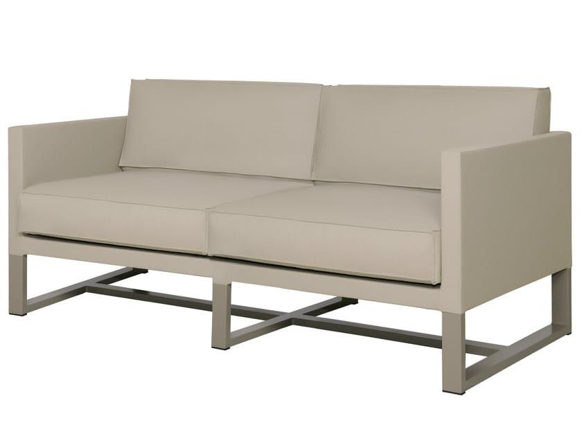 Sled base 2 seater fabric garden sofa MONO | Sled base sofa - MAMAGREEN