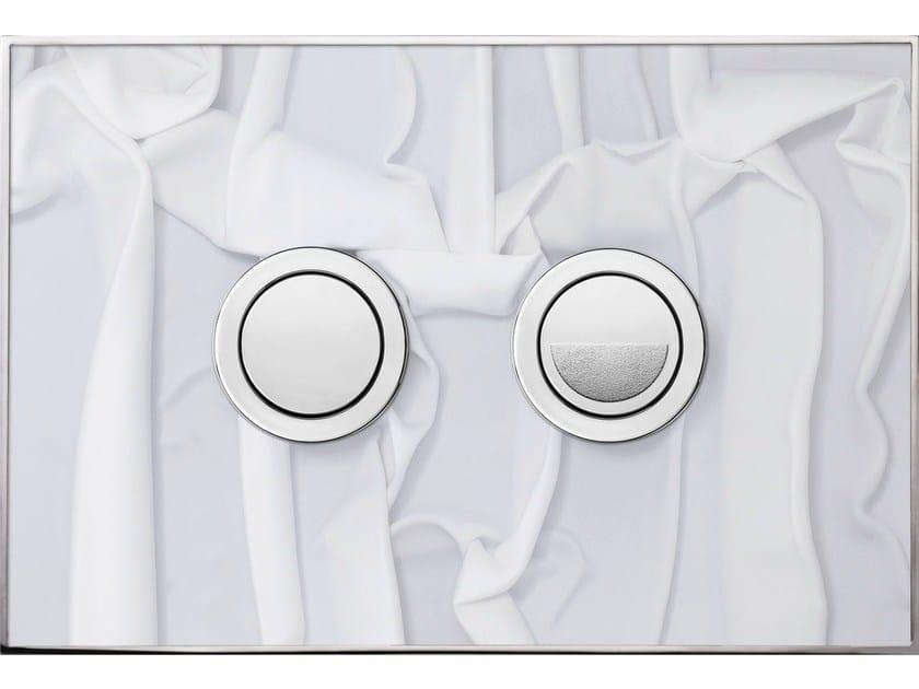 Flush plate FANTASY WHITE DRAPERY POLISHED - Valsir