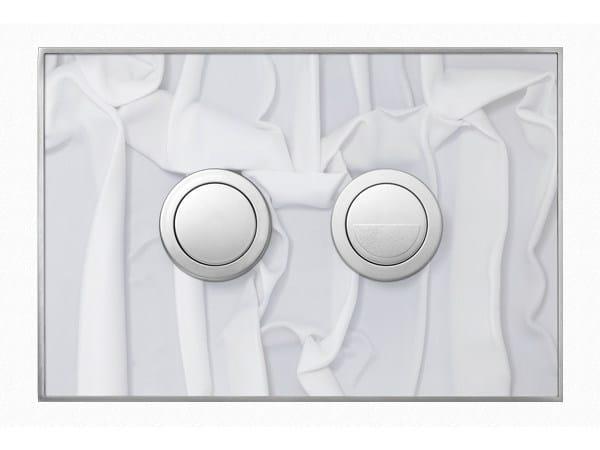 Flush plate FANTASY WHITE DRAPERY SATIN - Valsir