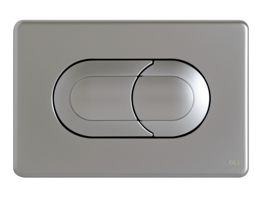 Brushed steel flush plate SALINA   Brushed steel flush plate - OLI