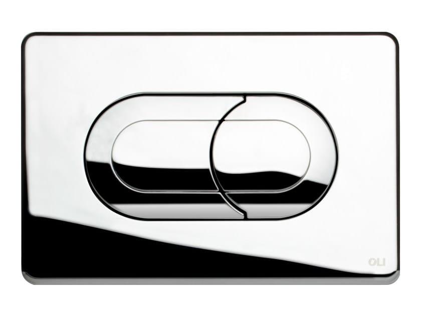 Glossy steel flush plate SALINA | Glossy steel flush plate - OLI