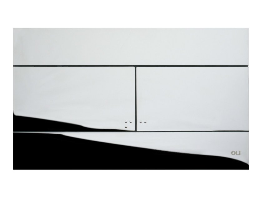 Glossy steel flush plate SLIM POLISHED CHROME - OLI