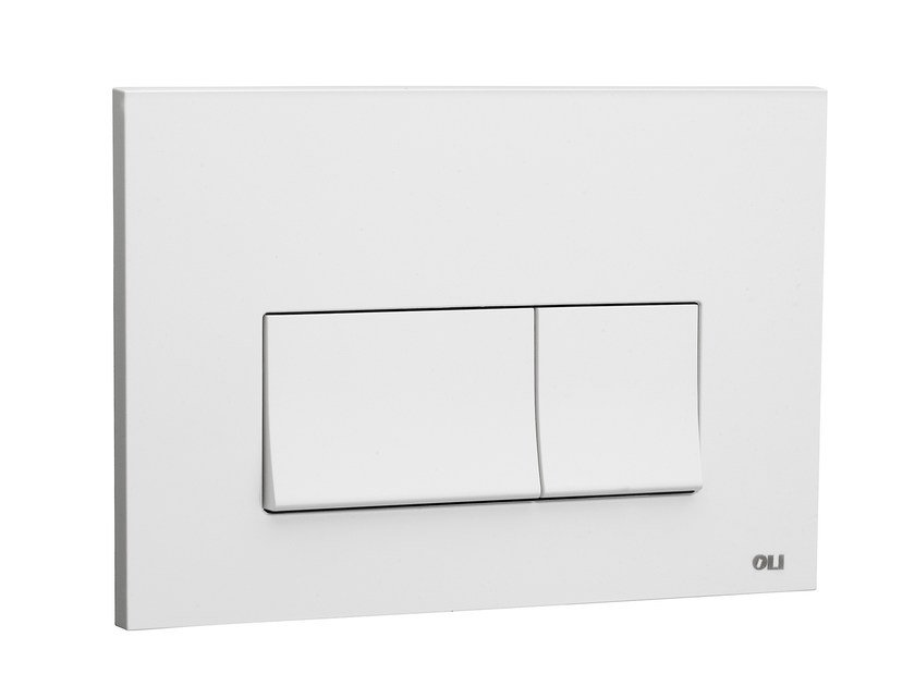 ABS flush plate STREAM WHITE - OLI