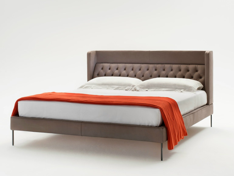 Bed with tufted headboard LIPP | Bed - Living Divani