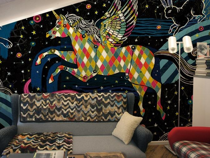 Washable vinyl wallpaper CONSTELLATION by GLAMORA