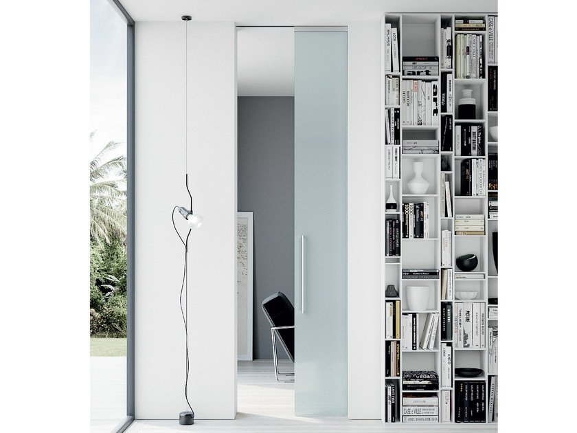 Crystal pocket sliding door without frame THIRA | Pocket sliding door - MOVI ITALIA