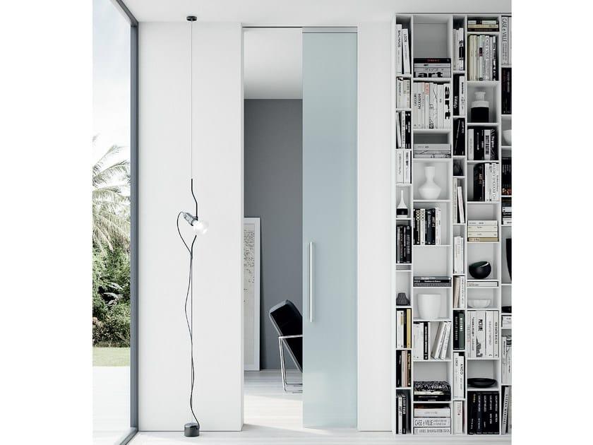puerta corrediza empotrada de cristal sin marco thira puerta corrediza empotrada by movi italia