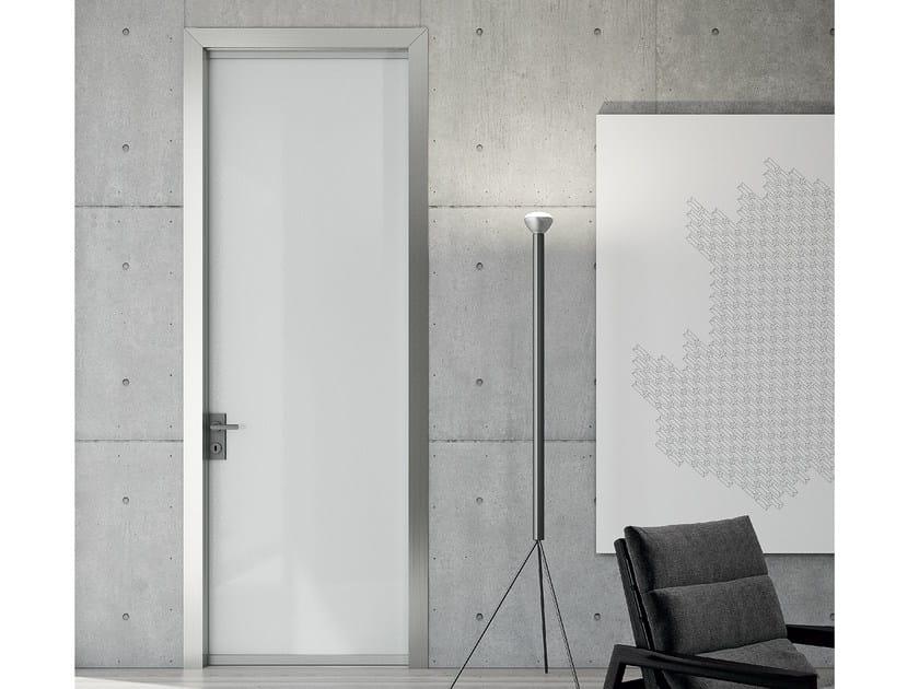 Hinged crystal and steel door LESS | Hinged door - MOVI ITALIA