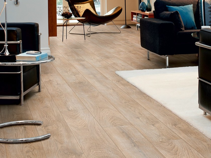 Laminate flooring with wood effect CHALKED BLONDE OAK by Pergo