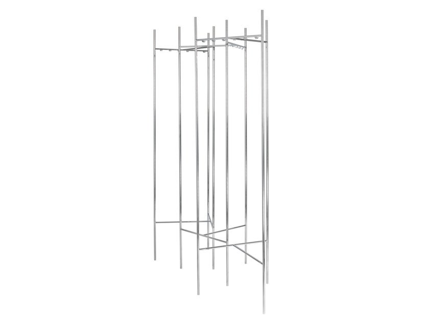 Chrome plated steel coat stand SKETCH | Coat stand by Schönbuch