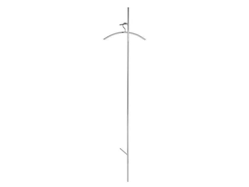 Wall-mounted glossy steel coat rack SKETCH | Glossy steel coat rack by Schönbuch