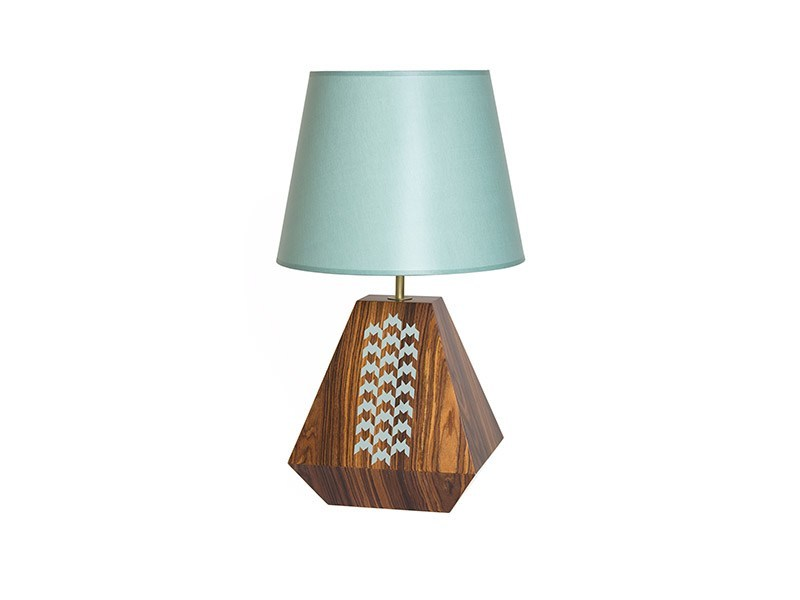 Wooden table lamp VIVID - Nevoa