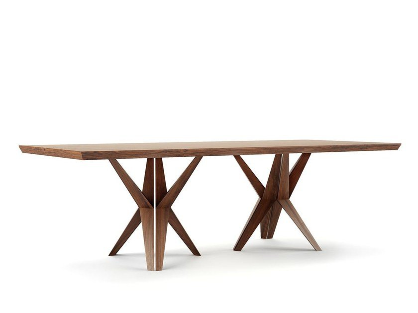 Rectangular wooden table TRIOLA - Belfakto