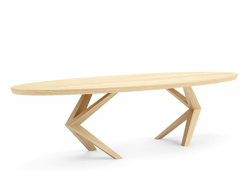Oval wooden table ARANEA - Belfakto