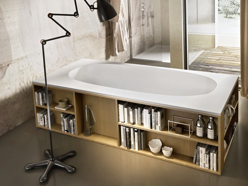 Oval Stonematt bathtub BOOK by Edoné by Agorà Group