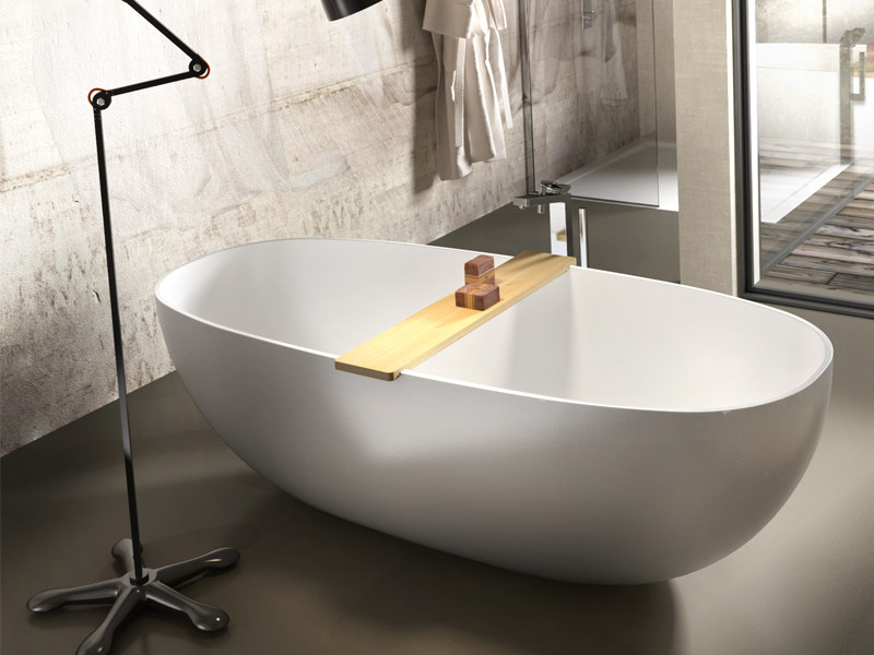 Oval Stonematt bathtub UV - Edoné by Agorà Group