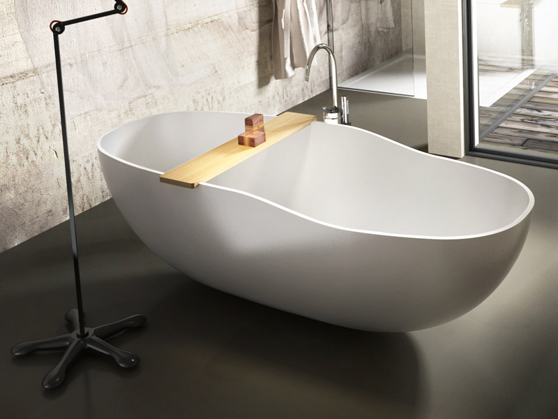 Oval Stonematt bathtub WEST by Edoné by Agorà Group