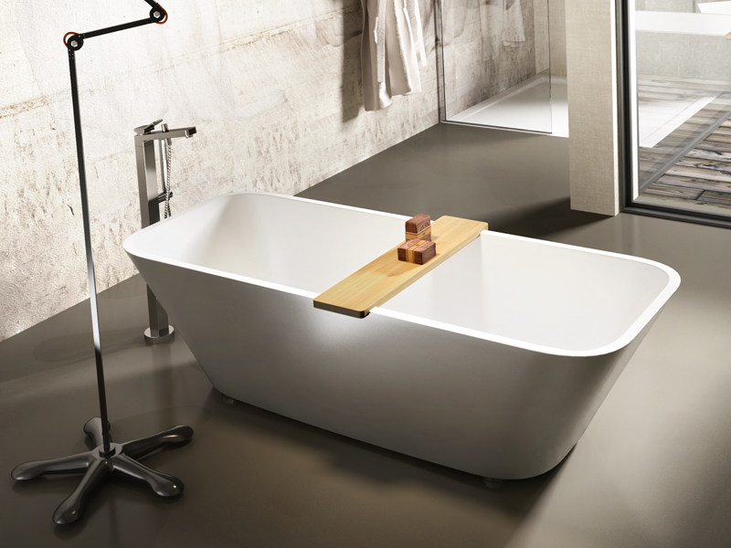 Rectangular Stonematt bathtub ALFA ESSENTIAL - Edoné by Agorà Group