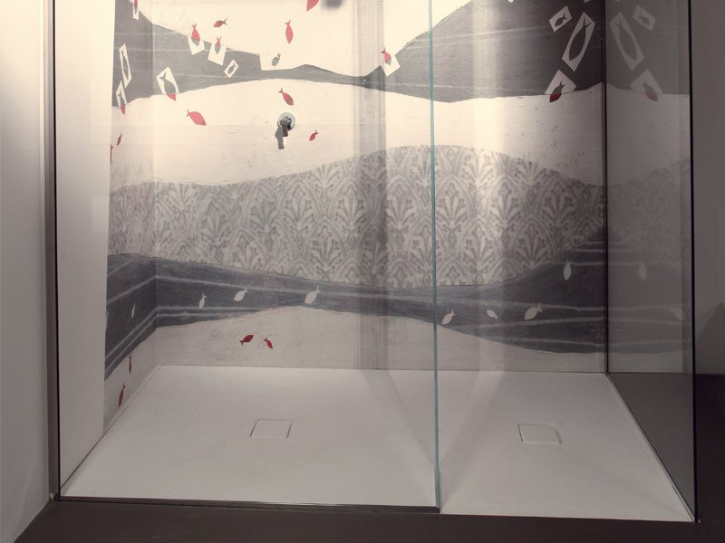 Flush fitting rectangular shower tray MORFEO - Edoné by Agorà Group