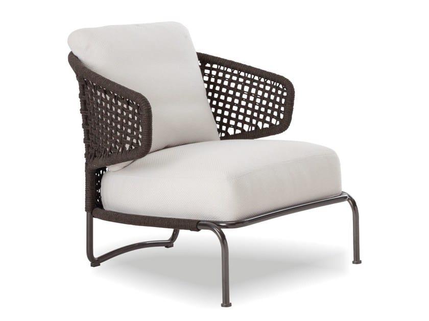 Outdoor armchair ASTON CORD OUTDOOR by Minotti