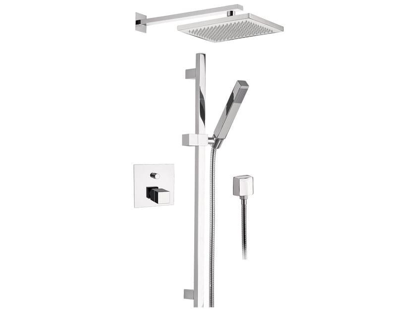 Thermostatic built-in chromed brass shower panel with hand shower SKYLINE | Shower panel with hand shower - Daniel Rubinetterie