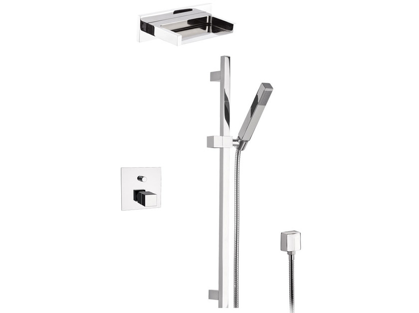 Shower wallbar with hand shower with mixer tap SKYLINE | Shower wallbar with hand shower by Daniel Rubinetterie