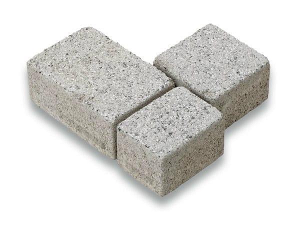 Concrete paving block CORSO® TRIS - Gruppo Industriale Tegolaia