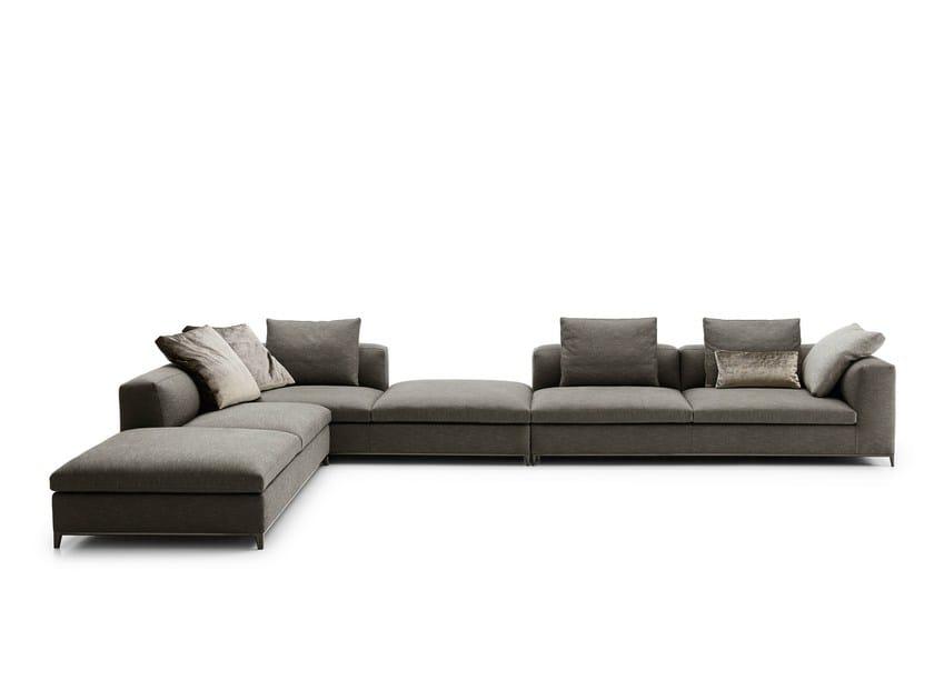 Corner sectional fabric sofa MICHEL CLUB - B&B Italia