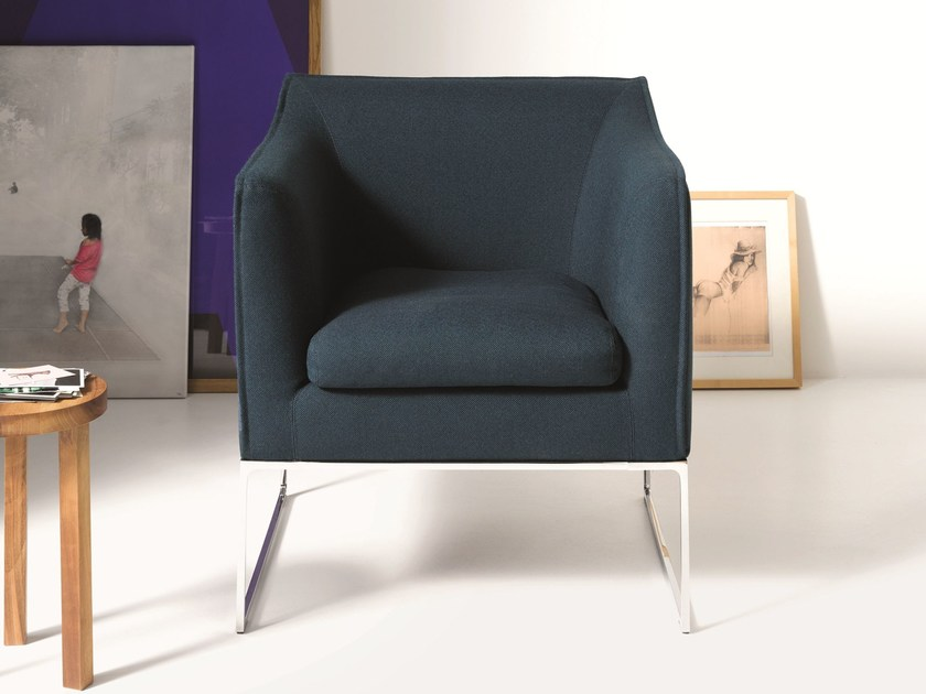 Sled base fabric easy chair MELL | Easy chair by COR