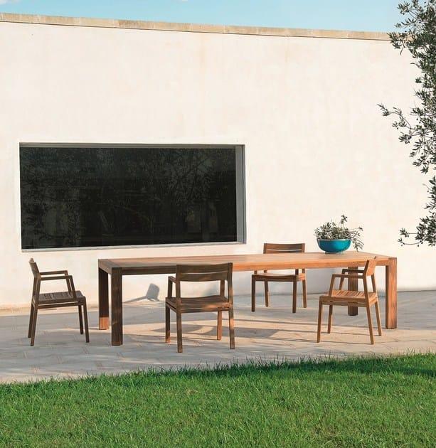Rectangular teak garden table COSTES | Rectangular table - Ethimo