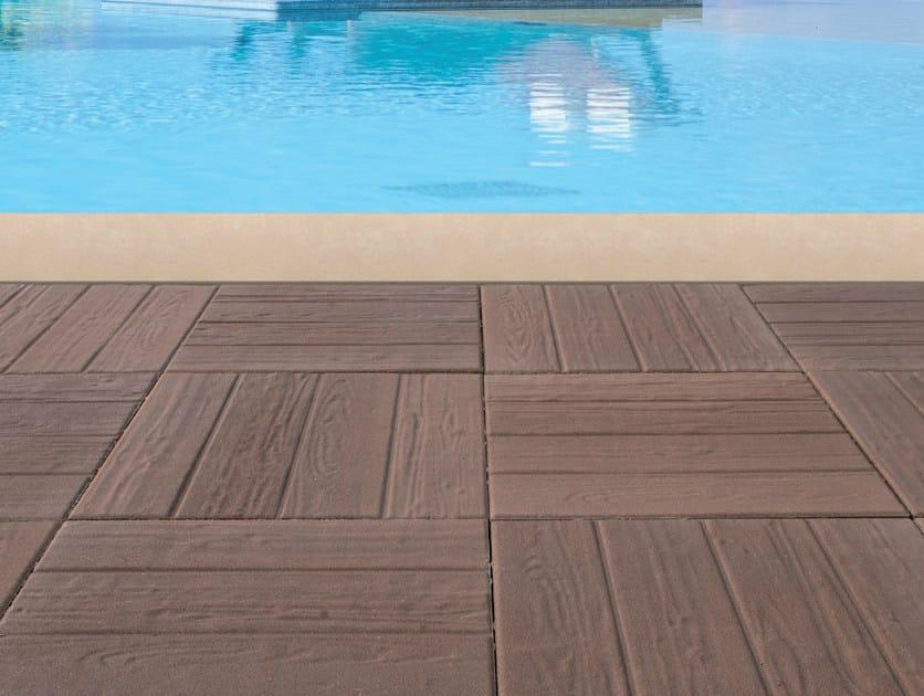 Concrete paving block PIASTRA WOOD - Gruppo Industriale Tegolaia