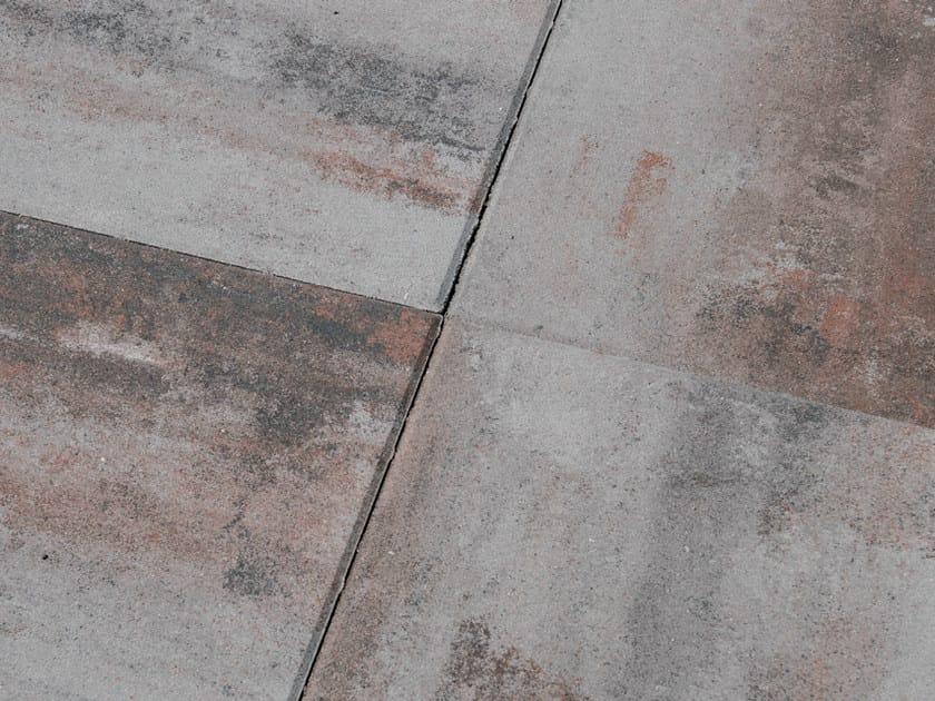 Concrete paving block PIASTRA 50 by Tegolaia