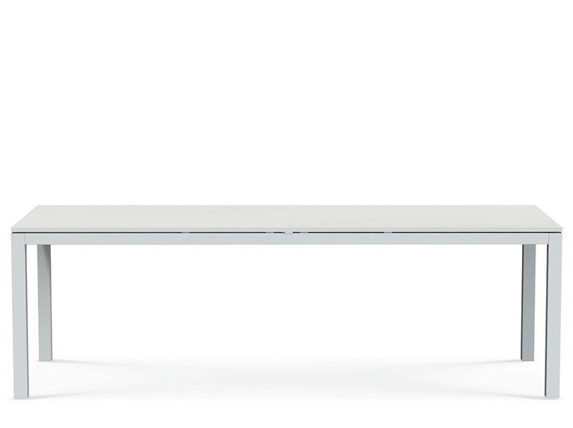 Extending rectangular metal garden table FLAT - Ethimo