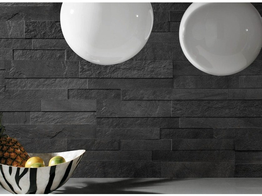 Porcelain stoneware wall tiles with stone effect Spaccatella STOCKHOLM - Ceramiche Supergres