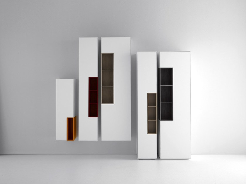 Lacquered MDF wall cabinet with door INMOTION   Wall cabinet - MDF Italia