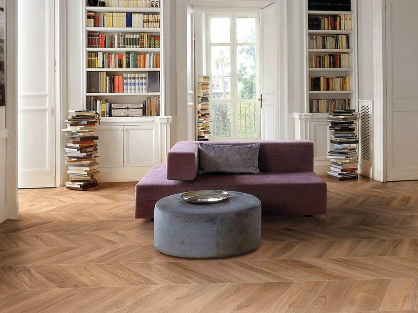 Porcelain stoneware flooring with wood effect PRIVÉ by Ceramiche Supergres