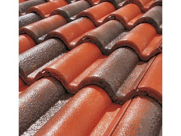 Cement roof tile SUPERCOPPO® CERAMICATO by Tegolaia