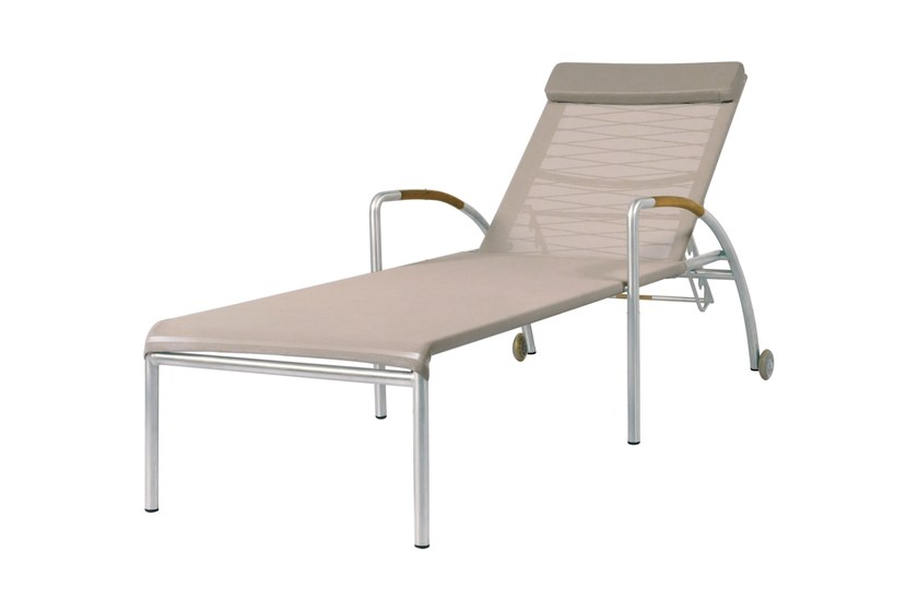 Recliner stainless steel garden daybed with Casters NATUN Lounger by MAMAGREEN