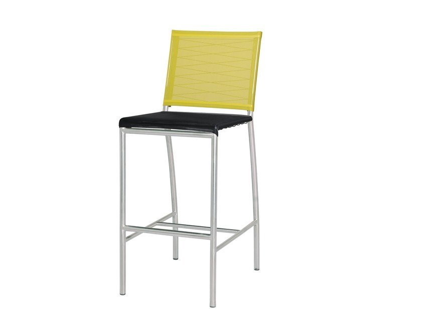 Stainless steel counter stool with footrest NATUN | Counter stool - MAMAGREEN