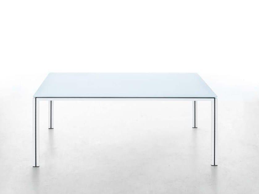 Rectangular tempered glass dining table ZOE   Garden table - iCarraro italian makers
