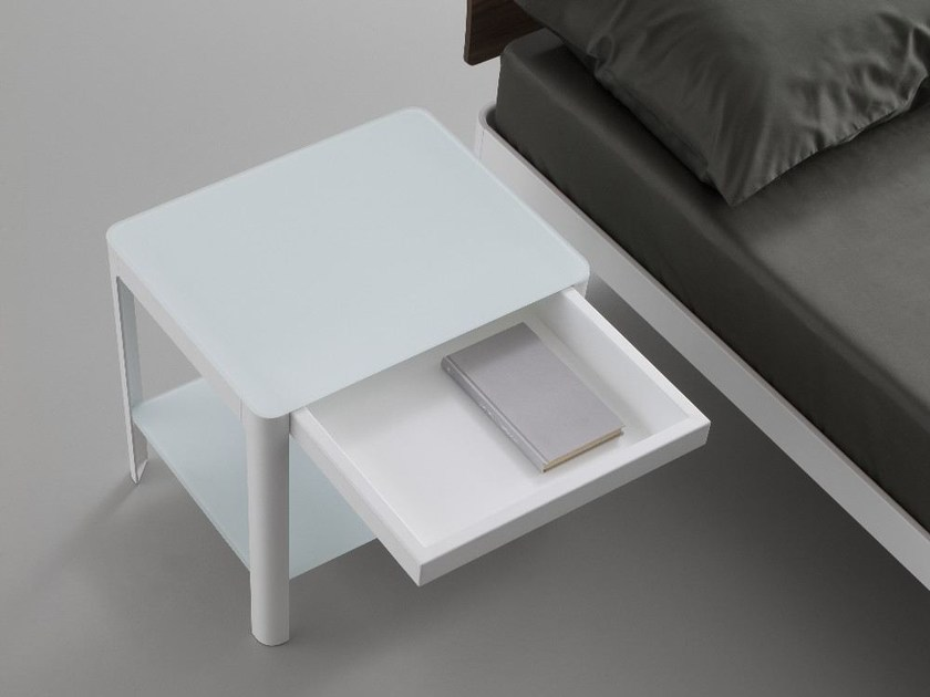 Rectangular bedside table with drawers PLANE | Crystal bedside table - iCarraro italian makers