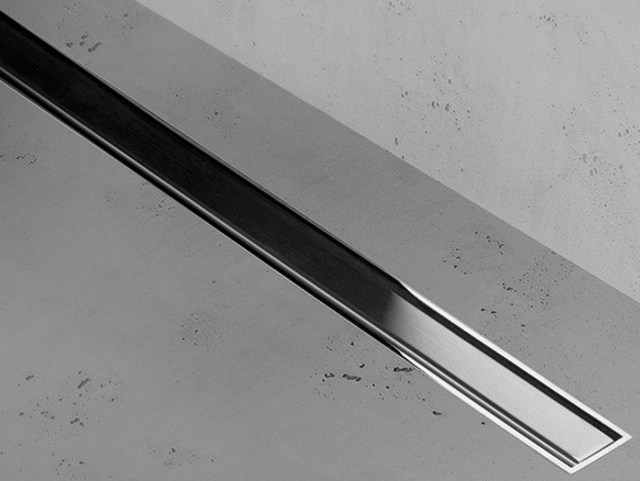Shower channel ZERO+BRUSHED STAINLESS STEEL - Easy Sanitary Solutions