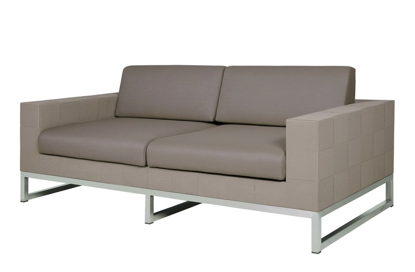 2 seater sled base Sunbrella® sofa QUILT Sofa 2-Seater by MAMAGREEN